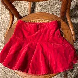 The Children's Place red velvet skirt